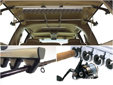 The Inno First Strike Rod Holder. I didn't like the fact that all the weight and stress of the rack and rods/reels is put upon the windows.