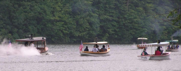 There's all sorts of traffic on the lake, some of it a little less usual than normal, like these steamboats.
